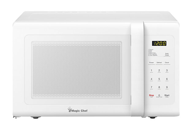 Magic Chef 0.9-Cu. Ft. 900W Countertop Microwave Oven, White, large