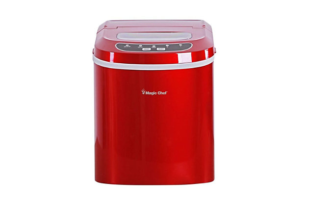 Magic Chef 27-Lb. Portable Countertop Ice Maker, Red, large