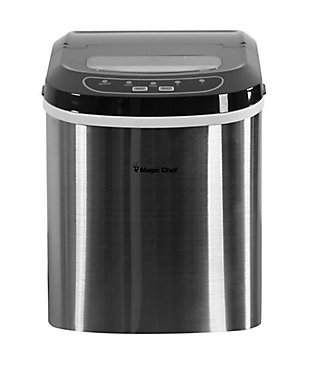 Magic Chef 27-Lb. Portable Countertop Ice Maker in Stainless Steel, , large