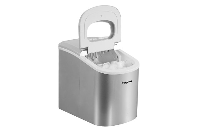 Magic Chef 27-Lb. Portable Countertop Ice Maker, Stainless Steel, large