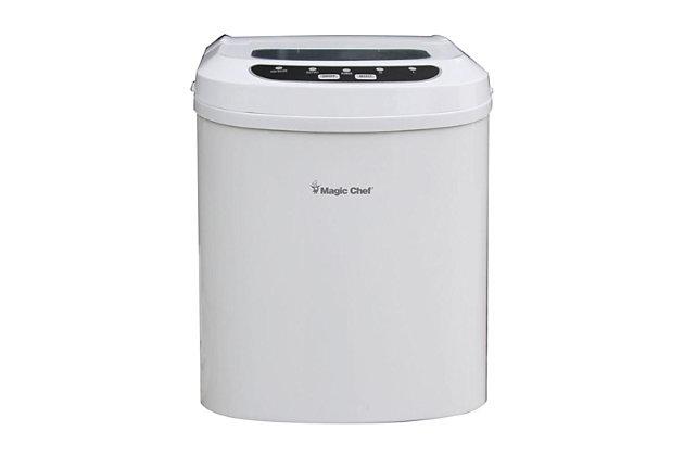 Magic Chef 27-Lb. Portable Countertop Ice Maker, White, large