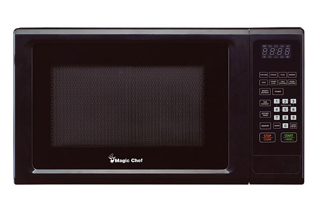 Magic Chef 1.1-Cu. Ft. 1000W Countertop Microwave Oven, Black, large