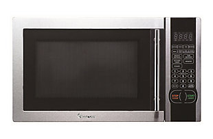 Magic Chef 1.1-Cu. Ft. 1000W Countertop Microwave Oven, Stainless Steel, large