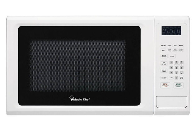 Magic Chef 1.1-Cu. Ft. 1000W Countertop Microwave Oven, White, large