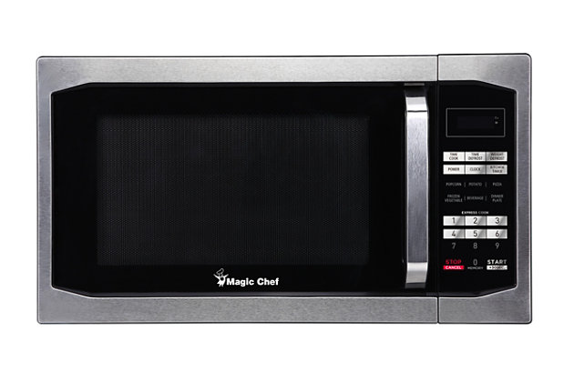 Magic Chef 1.6-Cu. Ft. 1100W Countertop Microwave Oven, Stainless Steel, large