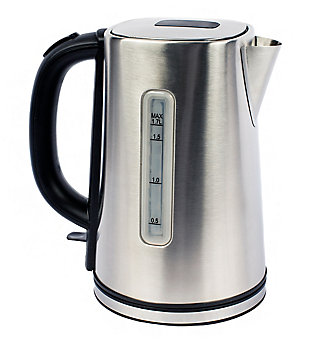 Magic Chef 7.2-Cup Electric Kettle with Cordless Pouring in Stainless Steel, , rollover