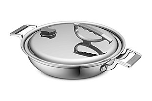 Cookcraft by Candace Cookcraft Original 3-Qt. Tri-PlyDual-Handle Casserole Pan, , large