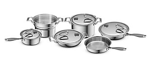 Cookcraft by Candace Cookcraft Original 10-Piece Tri-Ply Cookware Set, , large