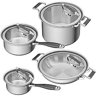 Cookcraft by Candace Cookcraft by Candace 8-Piece Tri-Ply Luxury Cookware Set, , large