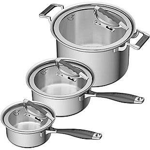 Cookcraft by Candace Cookcraft by Candace 6-Piece Tri-Ply Legacy Cookware Set, , large