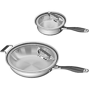 Cookcraft by Candace Cookcraft by Candace 4-Piece Tri-Ply Essential Cookware Set, , large