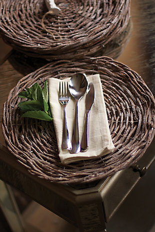 Rustic Gray Twig Charger- Set of 4, , rollover