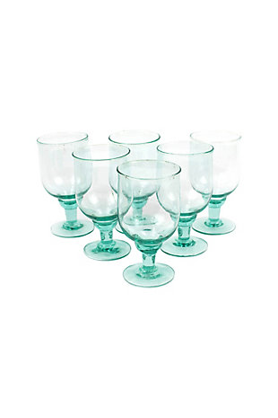 Large Recycled Water Goblet - Set of 6, , large