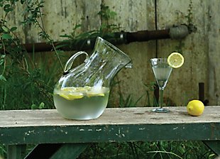 Large Glass Tilted Pitcher, , rollover