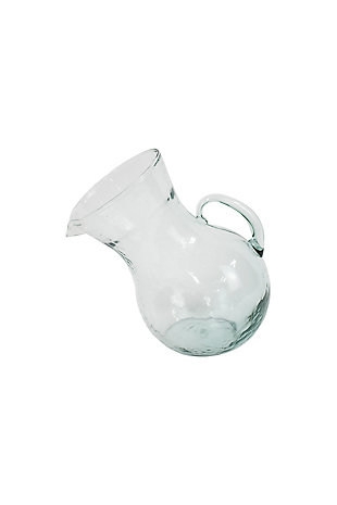Large Glass Tilted Pitcher, , large