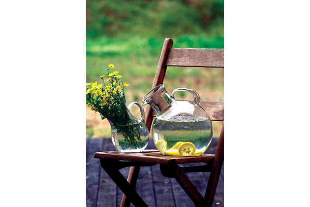 Small Mouthed Circular Tilted Pitcher, , large