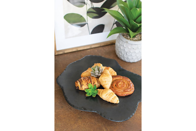Black Lime with Rustic Edge Lazy Susan, , large