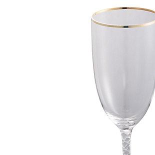 """AB HOME 8.5"""" Bubble-Stem Goblet, Gold Rim, , large"""