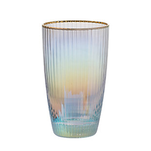 """AB HOME 5.5"""" Glass, Gold Rim, , large"""