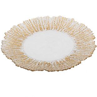"AB HOME 13"" Stallard Decorative Plate, Gold Band, , rollover"