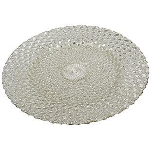 """AB HOME 13"""" Stallard Decorative Plate, Silver, , rollover"""