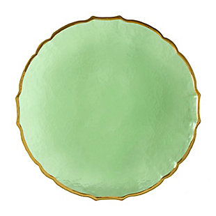 """AB HOME 13"""" Glass Charger, Green, , large"""