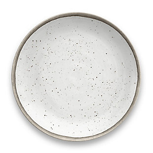Tarhong Retreat Pottery White Bamboo Dinner Plate (Set of 6), , rollover