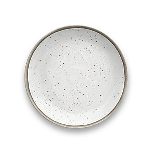 Tarhong Retreat Pottery White Bamboo Salad Plate (Set of 6), , large
