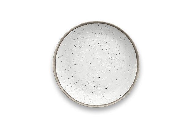 Tarhong Retreat Pottery White Bamboo Salad Plate (Set of 6), , large