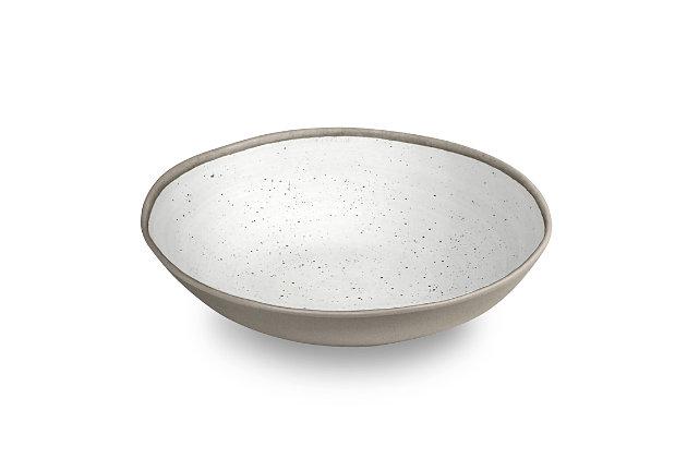"Tarhong Retreat Pottery White Bamboo, Serve Bowl 12"" / 104 oz., Merge (Bamboo powder and Melamine),Set of 1, , large"
