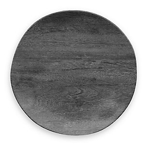 Tarhong Faux Blackened Wood Dinner Plate (Set of 6), , large