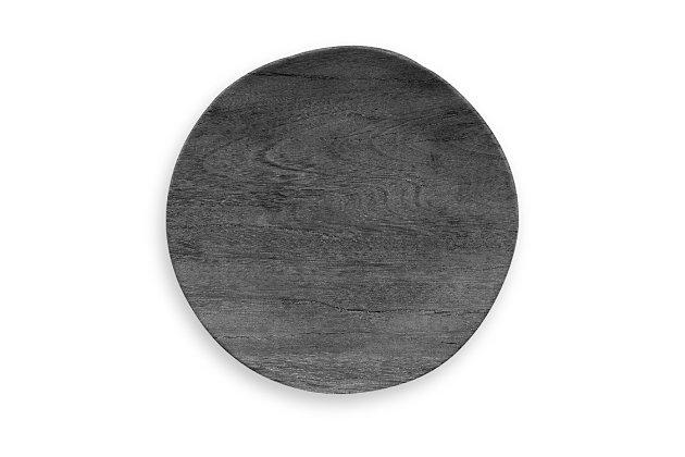 Tarhong Faux Blackened Wood Salad Plate (Set of 6), , large