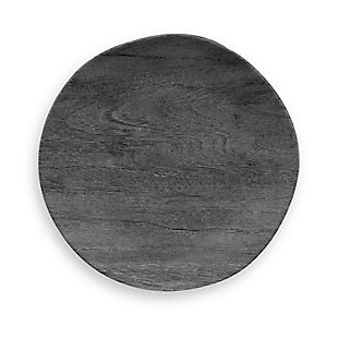 Tarhong Faux Blackened Wood Salad Plate (Set of 6), , large