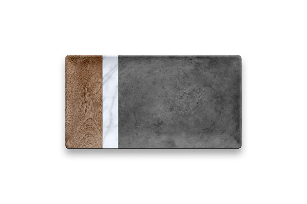 Tarhong Carrara and Stone Plank Platter, , large