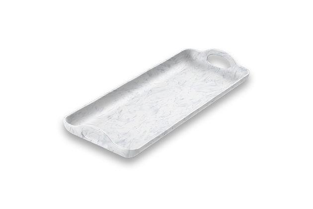 Tarhong Sea Glass Handled Tray, , large