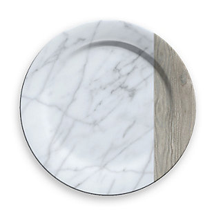 Tarhong Carrara and French Oak Charger (Set of 6), , rollover