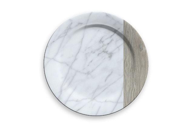 Tarhong Carrara and French Oak Charger (Set of 6), , large