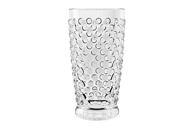 Tarhong 20 oz. Hobnail Jumbo Acrylic Glass (Set of 6), , large
