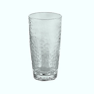 Tarhong 23.8 oz. Hammered Jumbo Acrylic Glass (Set of 6), , large