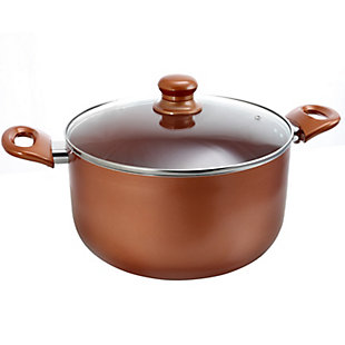 Better Chef 5 Qt. Copper Colored Ceramic Coated Dutchoven with glass lid, , large