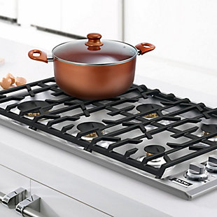 Better Chef 4 Qt. Copper Colored Ceramic Coated Dutchoven with glass lid, , rollover