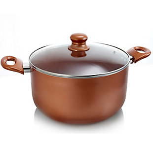 Better Chef 2 Qt. Copper Colored Ceramic Coated Dutchoven with glass lid, , large