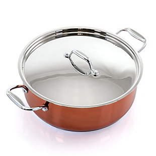 Better Chef 10 Quart Stainless Steel Low Pot in Copper, , large