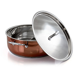 Better Chef 8 Quart Stainless Steel Low Pot in Copper, , large