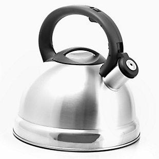 Better Chef 3-Liter Whistling Tea Kettle, Silver, large