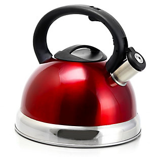 Better Chef 3-Liter Whistling Tea Kettle in Red, Red, large