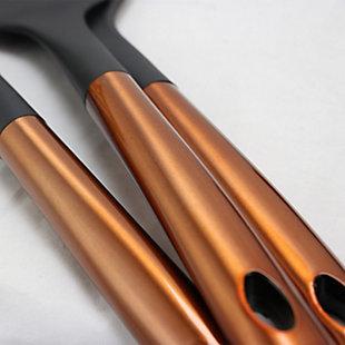 Better Chef Nylon Kitchen Utensil Set in Copper, Set of 6, Black/Copper, large