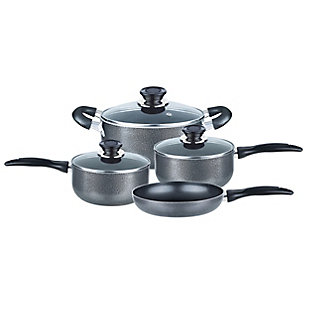 Brentwood 7 Piece Nonstick Aluminum Cookware Set in Granite, , large