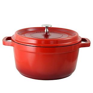 Crock Pot Edmound Cast Aluminum 5 Quart Dutch Oven with Lid in Red, , large