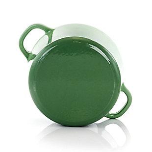 Crock-Pot Artisan 2 Piece 5 Quarts Enameled Cast Iron Dutch Oven in Pistachio Green, Green, large